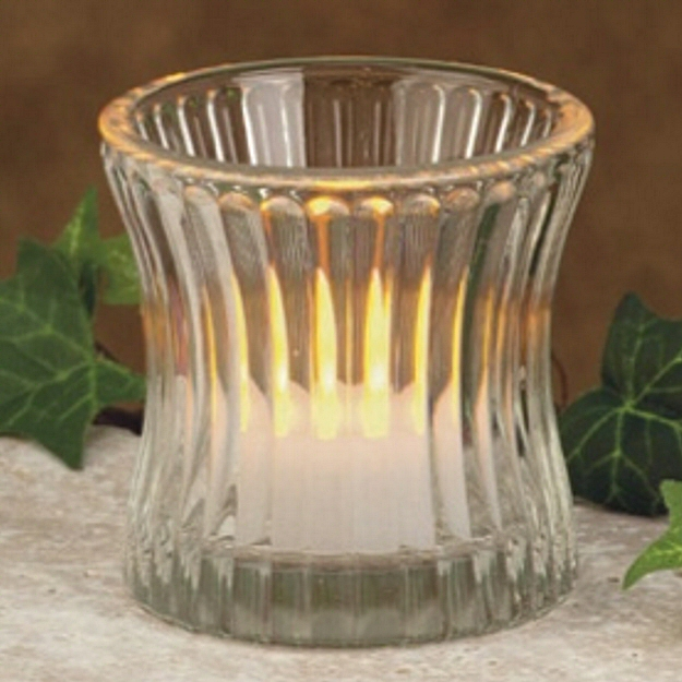 2 5 Clear Spiral Gl Votive Candle Holders Set Of 12
