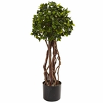 2.5' English Ivy Topiary Silk Tree UV Resistant Indoor Outdoor