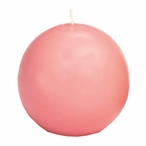 """2.5"""" Pink Ball Candles, Set of 8"""