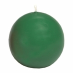 """2.75"""" Pine Green Ball Candles, Set of 6"""