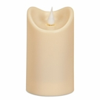 """2.75"""" x 5"""" Simplux LED Ivory Outdoor Candles w/ Moving Flame, Set of 2"""