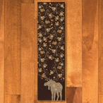 2' x 8' Abstract Moose Blossom Chocolate Wildlife Rectangle Runner Rug