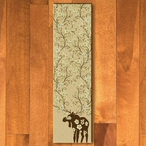 2' x 8' Abstract Moose Blossom Natural Wildlife Rectangle Runner Rug
