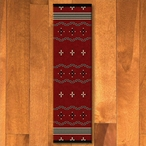 2' x 8' Big Chief Red Southwest Rectangle Runner Rug
