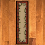2' x 8' Delicate Pines Red Nature Rectangle Runner Rug