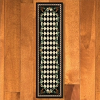 2' x 8' High Country Rooster Black Rectangle Runner Rug