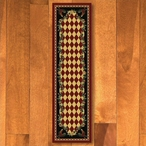 2' x 8' High Country Rooster Red Rectangle Runner Rug