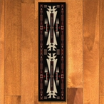 2' x 8' Horse Thieves Black Southwest Rectangle Runner Rug