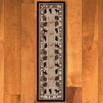 2' x 8' Northern Wildlife Brown Shades Rectangle Runner Rug