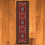 2' x 8' Old Crow Red Southwest Rectangle Runner Rug