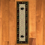 2' x 8' Patchwork Bear and Pinecones Wildlife Rectangle Runner Rug