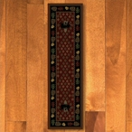 2' x 8' Patchwork Bear and Pinecones Red Wildlife Rectangle Runner Rug