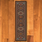 2' x 8' Persian Southwest Brown Rectangle Runner Rug