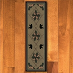 2' x 8' Pinecones and Bears Green Wildlife Rectangle Runner Rug