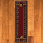 2' x 8' Plaid Woodsman Red Nature Rectangle Runner Rug