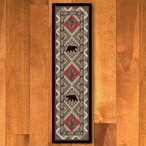 2' x 8' Quilted Forest Pine with Bears Wildlife Rectangle Runner Rug