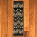 2' x 8' Trapper Brown Southwest Rectangle Runner Rug