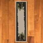 2' x 8' Twin Bears in the Forest Green Wildlife Rectangle Runner Rug
