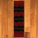 2' x 8' War Path Red Southwest Rectangle Runner Rug