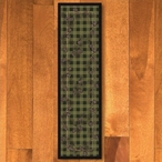 2' x 8' Wooded Pines Green Nature Rectangle Runner Rug