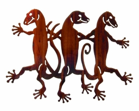 "20"" Dancing Lizards Metal Wall Art by Neil Rose"