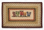 """20"""" x 30"""" Cowboy Boots Braided Jute Rectangle Rug by R.A. Guthrie"""