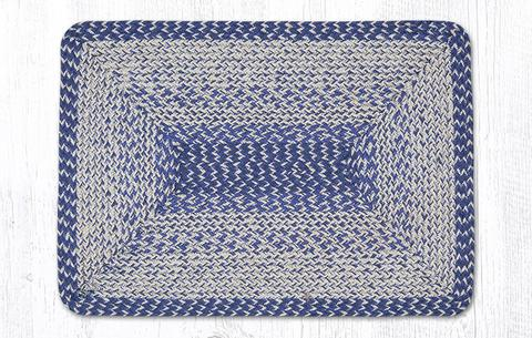 20 X 30 In The City Blue Braided Jute Rectangle Rug