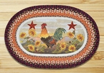 """20"""" x 30"""" Morning Rooster Braided Jute Oval Rug by Sandy Clough"""