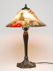 "21.5"" Assorted Fruits Glass and Metal Table Lamp"