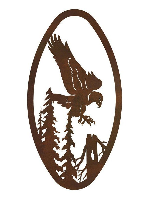 22 oval flying eagle metal wall art birds wall decor - Oval wall decor ...