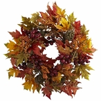 """24"""" Maple and Berry Silk Wreath"""