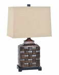 "25"" Weave Table Lamp"