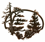 "26"" Desert Pine Scenic Metal Wall Art"