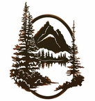 "26"" Grand Teton National Park Jenny Lake Metal Wall Art"