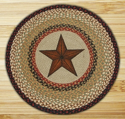 27 Quot Barn Star Braided Jute Round Rug By Susan Burd Floor