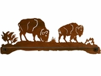 "27"" Buffalo Scenic Metal Towel Bar"