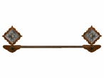 """27"""" Burnished Diamond Old Silver Berry Concho Metal Towel Bar"""