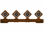 "27"" Diamond Pico Copper Scenic Metal Towel Bar"
