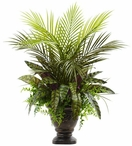 """27"""" Mixed Areca Palm, Fern and Peacock Silk Plant with Planter"""