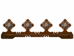 "27"" Picture Jasper Stone Scenic Metal Towel Bar"