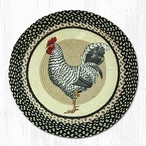 """27"""" Rooster Bird Braided Jute Round Rug by Sandy Clough"""