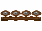 "27"" Sunburst Concho Scenic Metal Towel Bar"