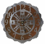 "28"" Sand Painting Metal Wall Clock"