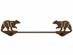 "27"" Black Bear Metal Towel Bar"