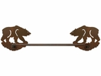 "27"" Brown Bear Metal Towel Bar"