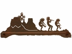 "27"" Kokopelli Desert Scene Metal Towel Bar"