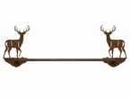 "27"" Whitetail Deer Metal Towel Bar"
