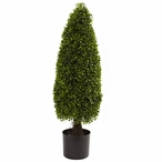 3' Boxwood Tower Topiary UV Resistant Indoor Outdoor