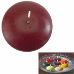 """3"""" Burgundy Candle Floats Floating Candles, Set of 16"""