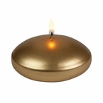 """3"""" Gold Floats Floating Candles, Set of 16"""